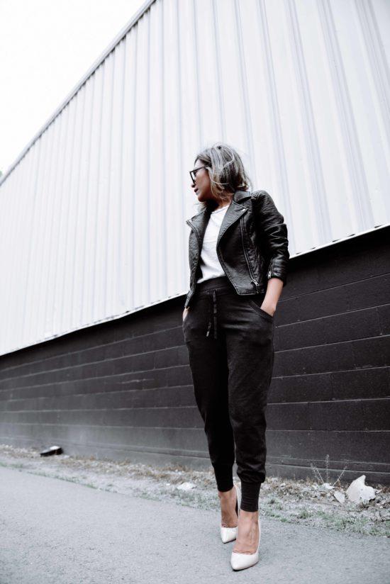 Lightweight Black Leather Jacket for Summer