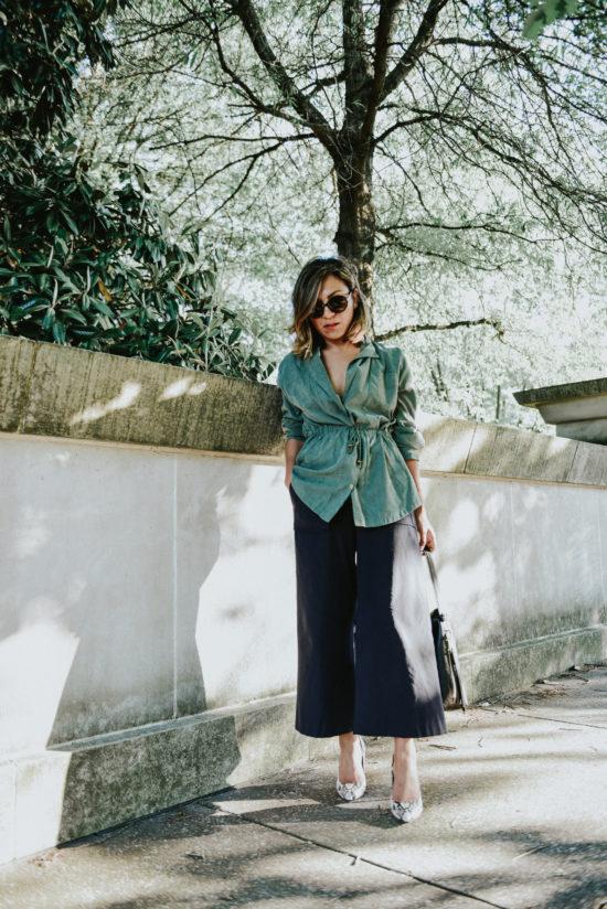 Lightweight Green Jacket for Spring