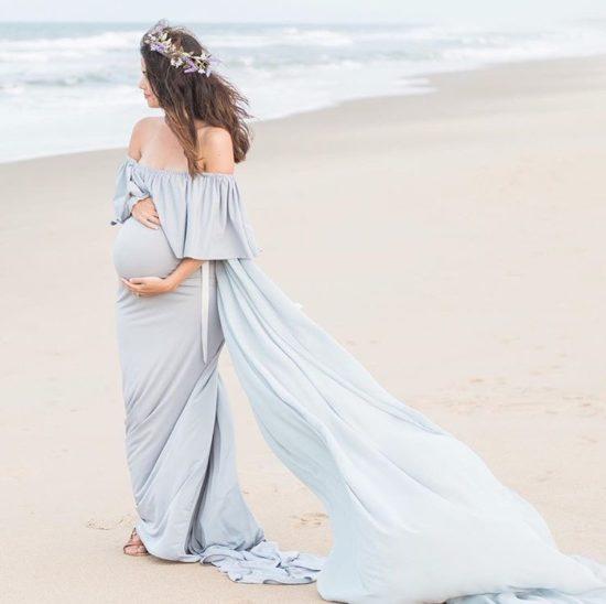 Ethereal Maternity Maxi Dress