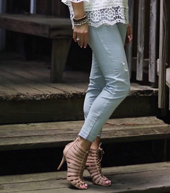 Perfect Summer Shoes - Strappy Nude Heels