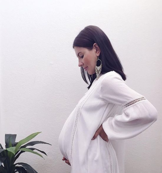 White Boho Maternity Dress