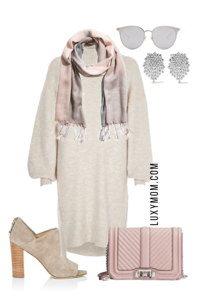 Sweater Dress Collage Pink Accessories