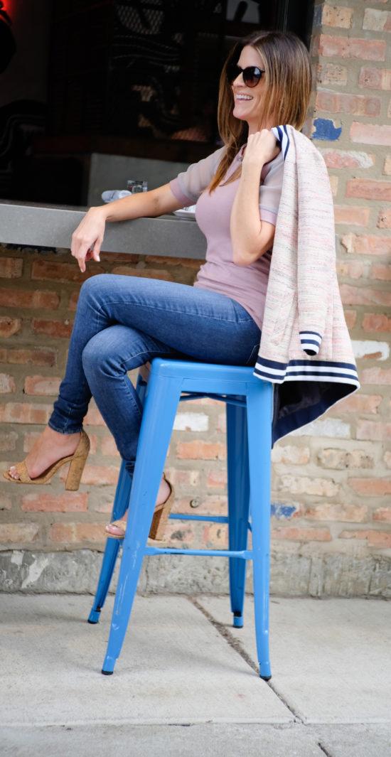 LUXYMOM Katie Farnan Jacket Pink Top Mommy Styles