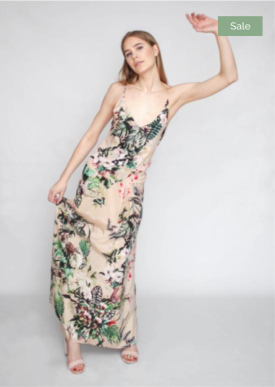Katie Farnan Floral Drop Waist Maxi Dress