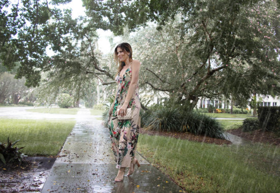 Katie Farnan White Maxi Dress - Rain