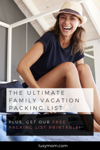 family vacation packing list article