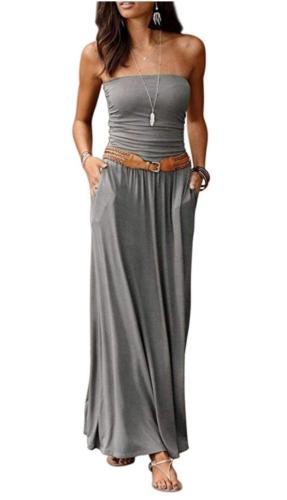 amazon sleeveless maxi dress