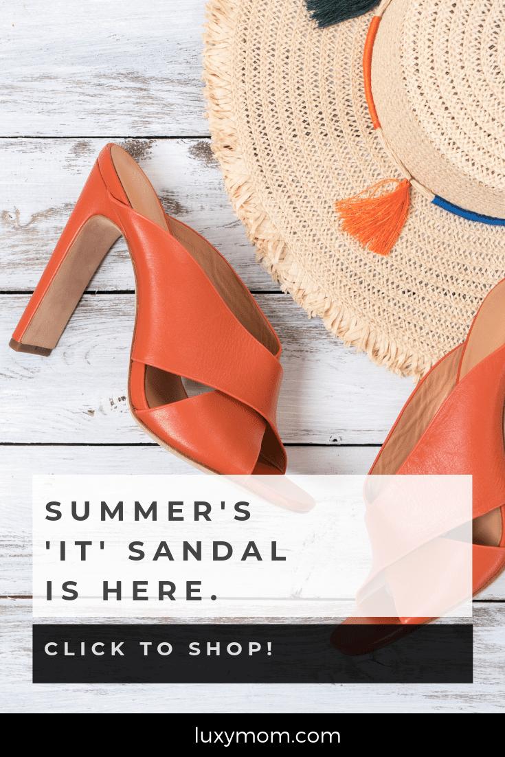 summer it sandal - summer heeled mule