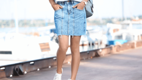 jean skirts outfits luxymom