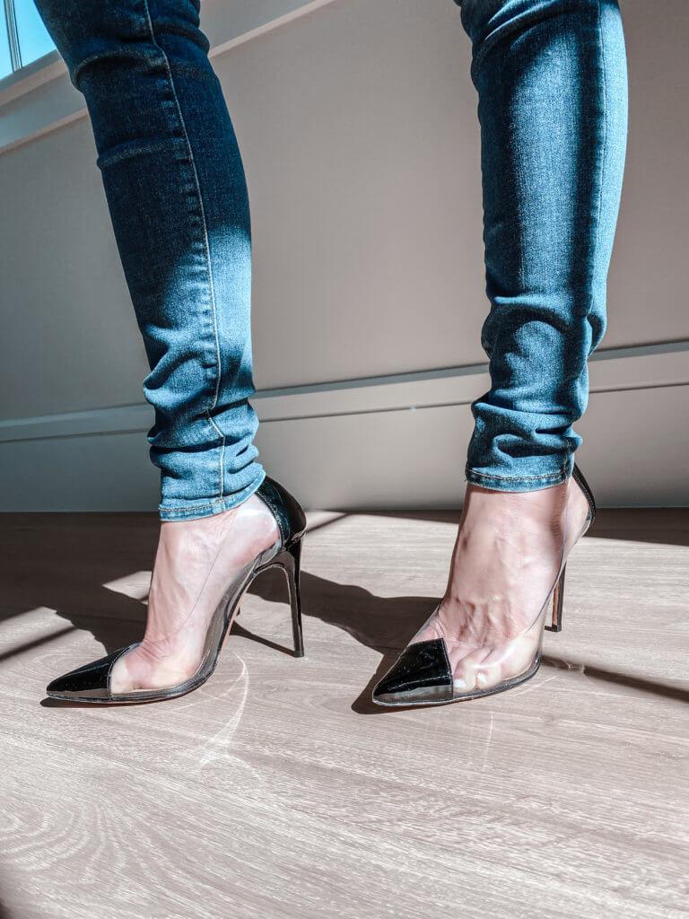schutz cendi pump clear shoes
