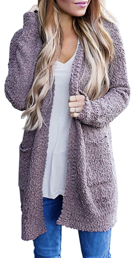 amazon chunky knit cardigan