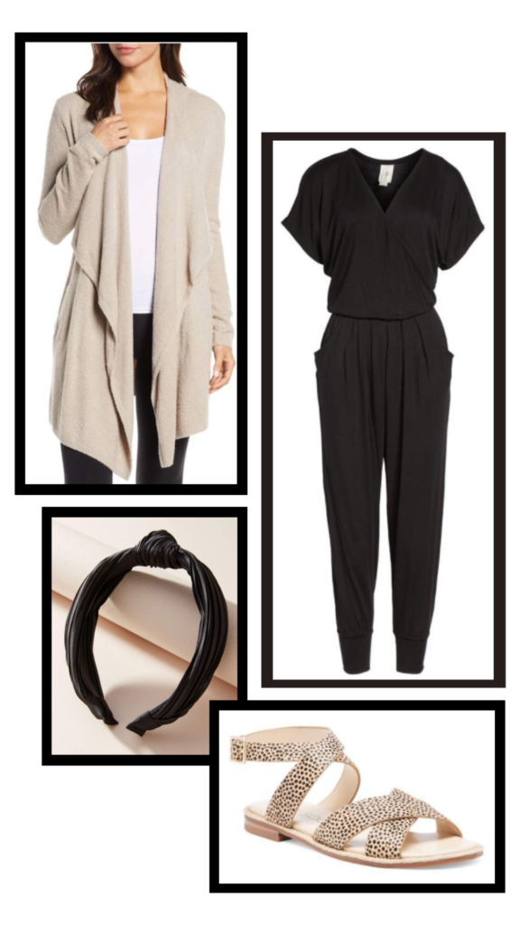 black jumpsuit casual outfit