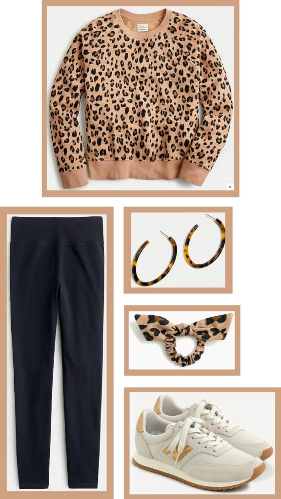 leopard print sweatshirt outfit