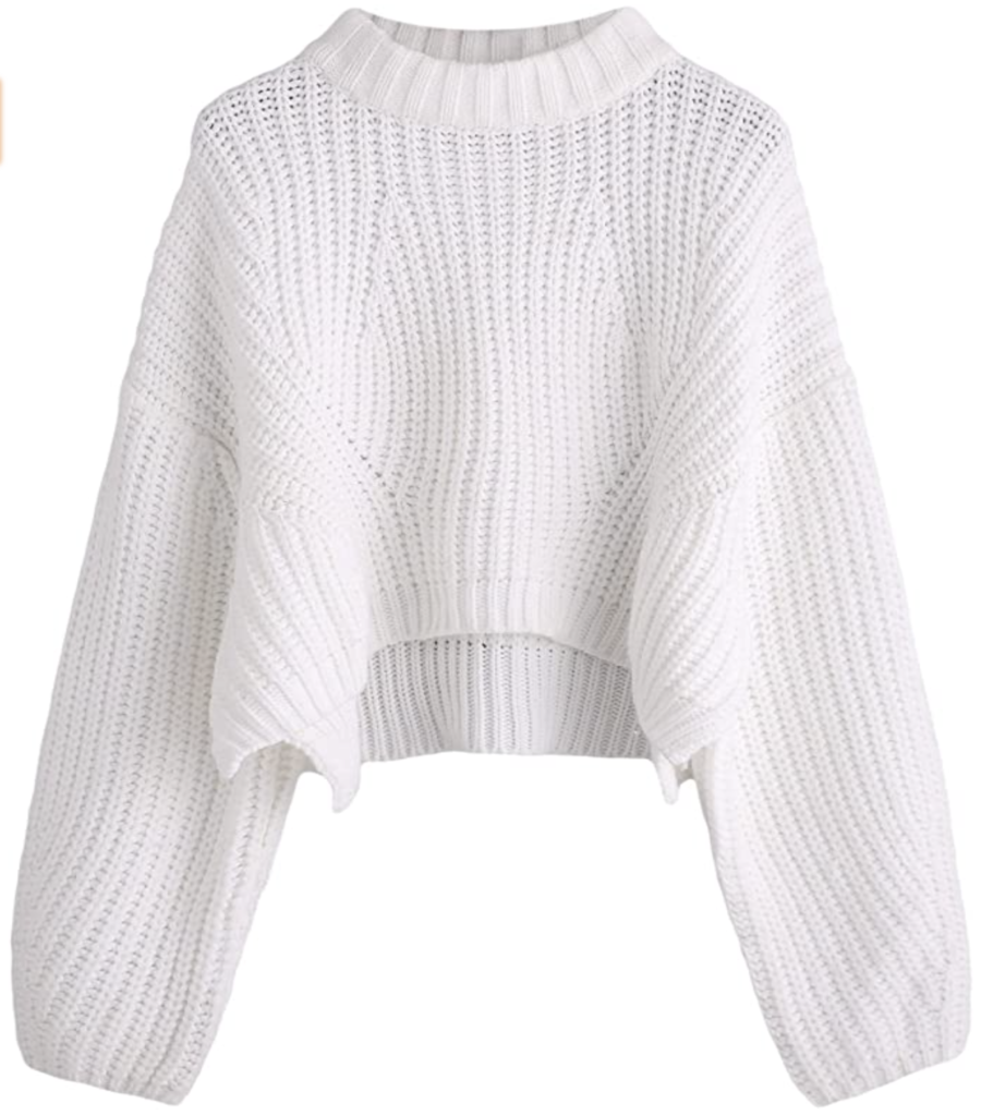 chunky white sweater amazon