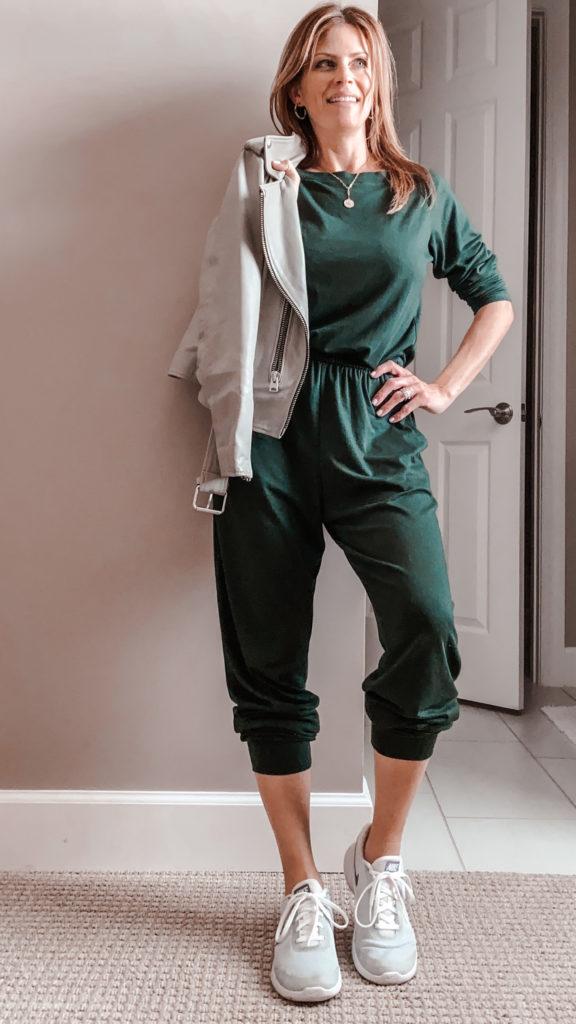 green amazon jumpsuit