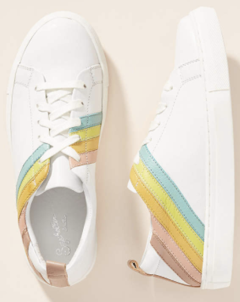 seychelles white rainbow sneakers anthropologie