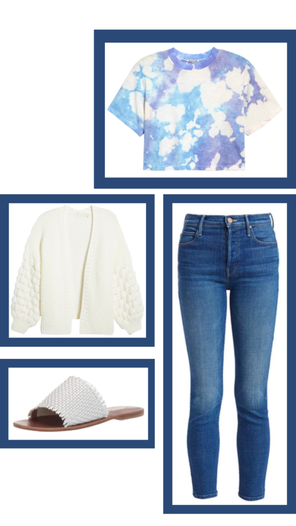 tie dye tshirt and jeans outfit