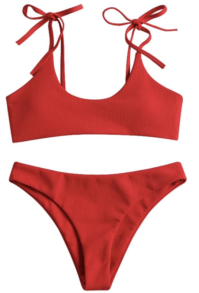 amazon zaful red bikini