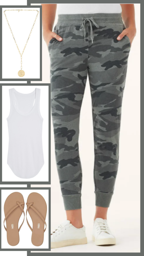 casual summer joggers outfit