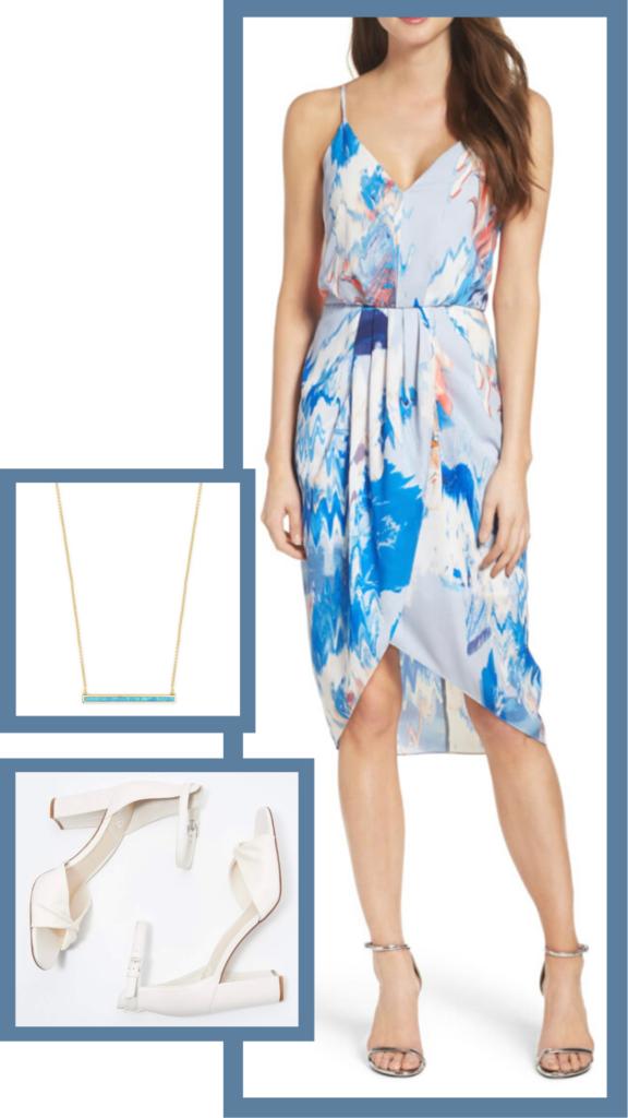 blue floral summer dress chelsea28 nordstrom