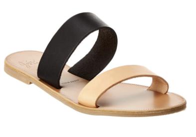 joie leather flat sandal