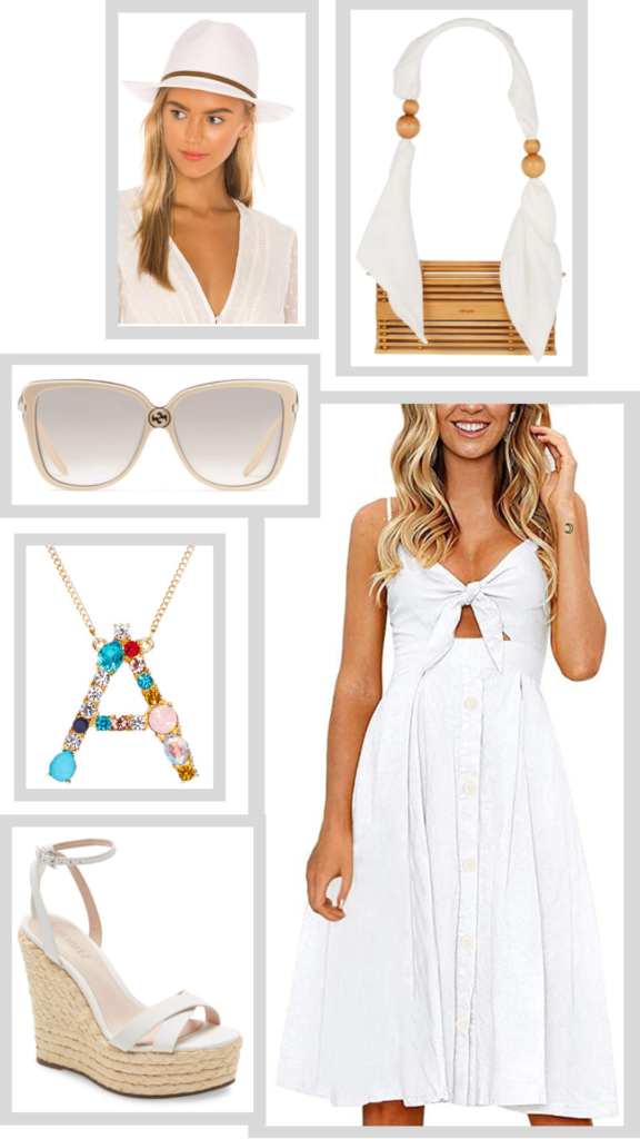 little white dress summer outfit