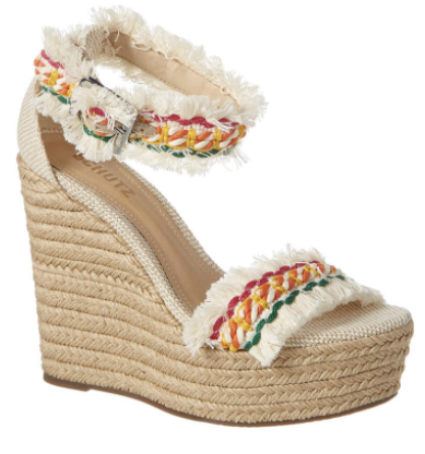 schutz rainbow wedge espadrille