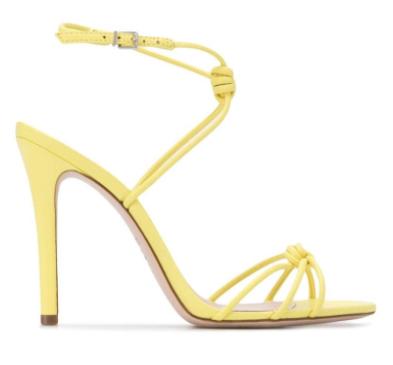 schutz yellow knot sandal