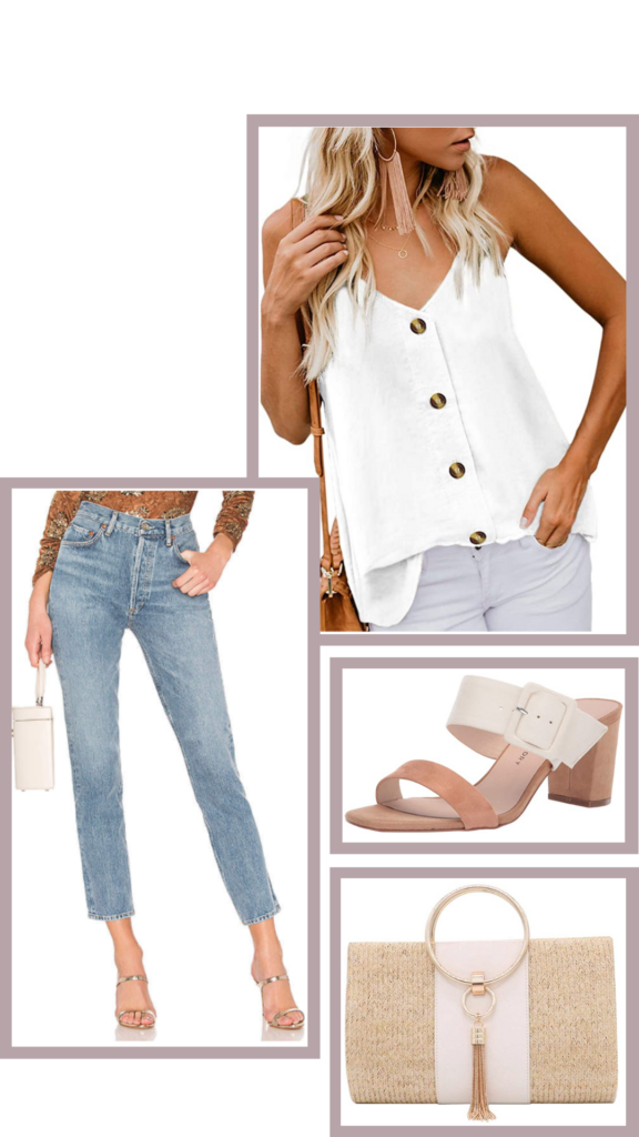 white top jeans outfit amazon fashion casual