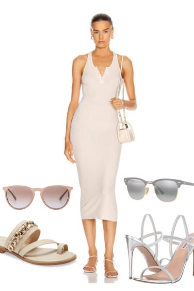 3 ways to style a tank midi dress