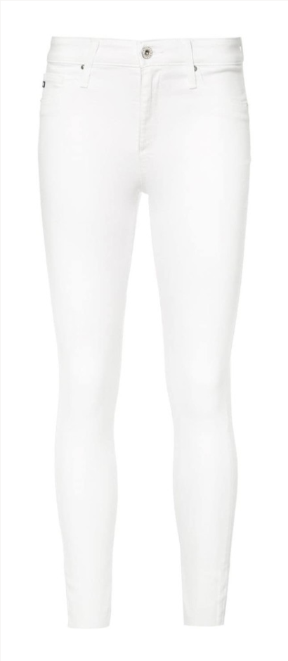 ag jeans white jeans farfetch sale