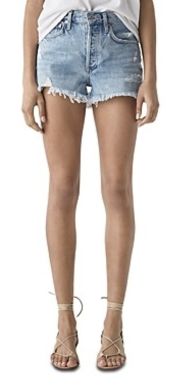 agolde denim shorts