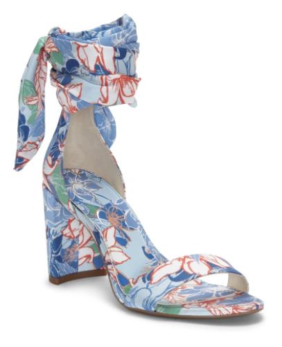 floral heeled sandals