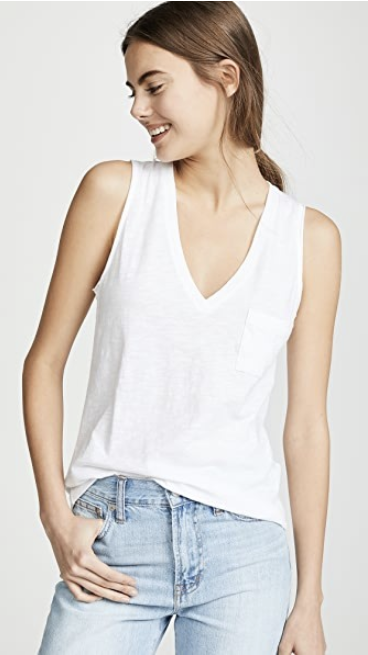 madewell whisper cotton tank top