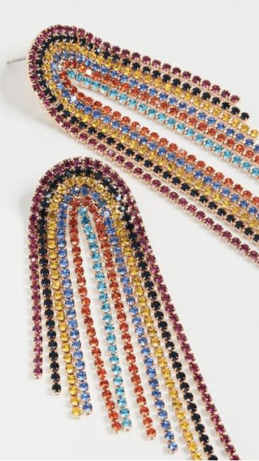 rainbow statement earrings