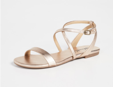strappy gold sandals