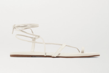 white strappy sandals tkees