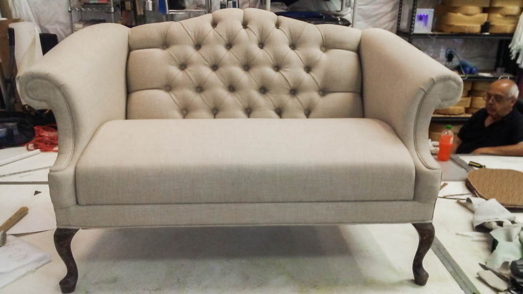 Reupholstered Chair by Naples Canvas and Upholstery - Featured Image