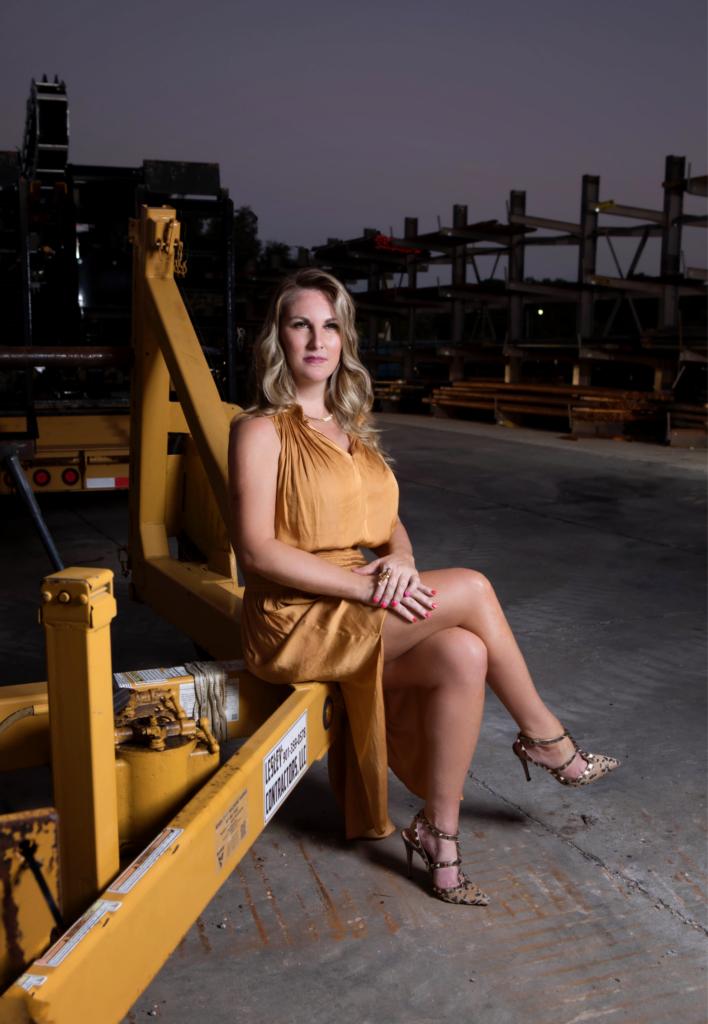 In Heels Making Deals - Stylish Woman in Yellow Dress