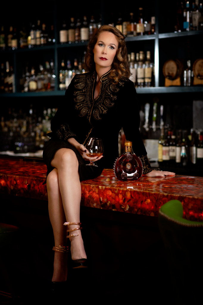 Sophisticated Woman Drinking Bourbon