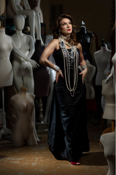 Luxury Vintage Dress and Pearl Necklaces