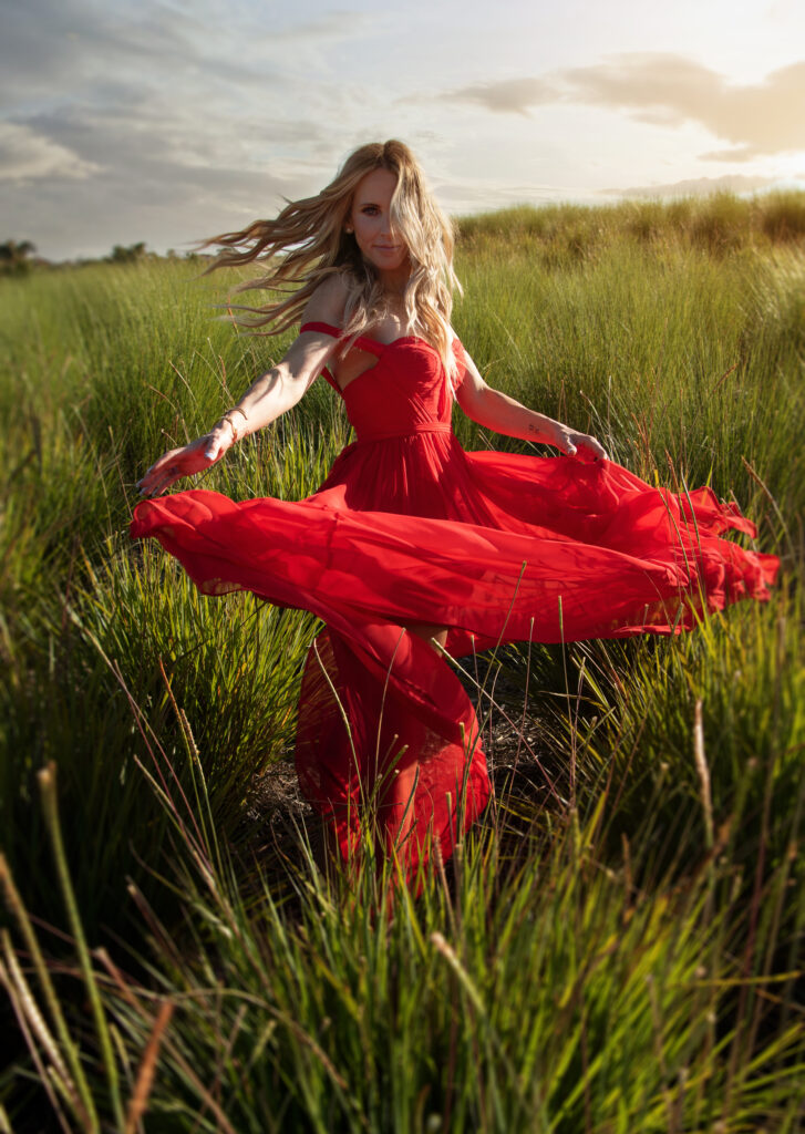 Red Dress Outfit Fashion Blogger