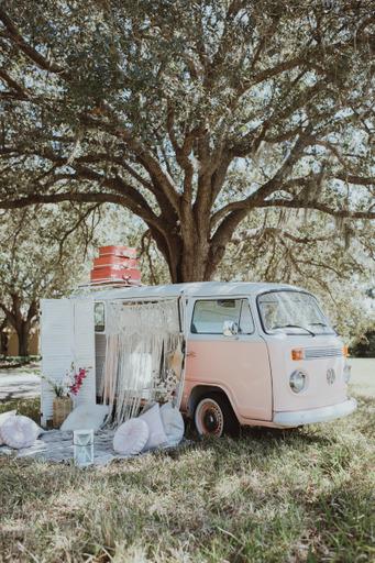 boho chic wedding venue bus The Dream Bar