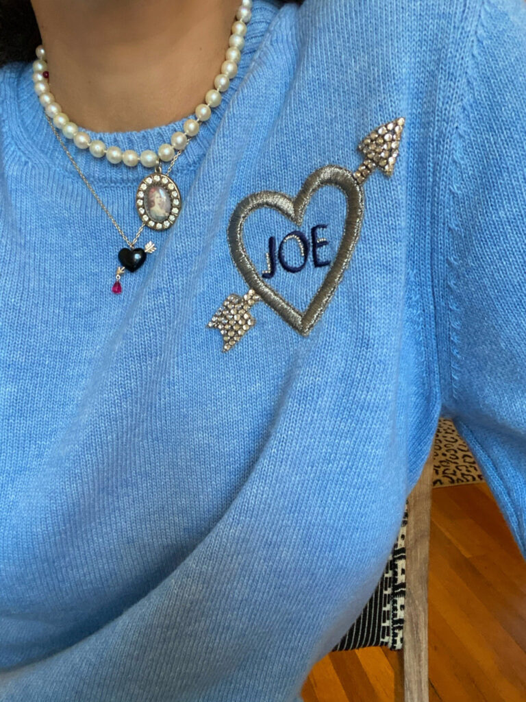 le lion personalized embellished sweater