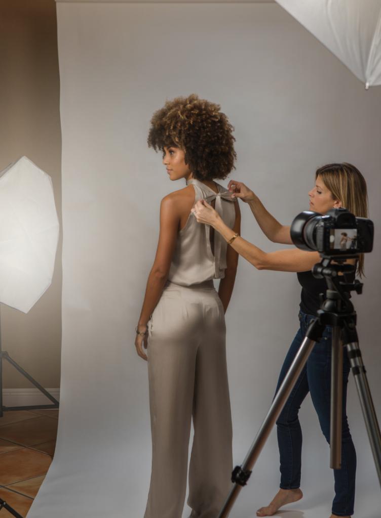 photo shoot styling chicago fashion designer katie farnan interview