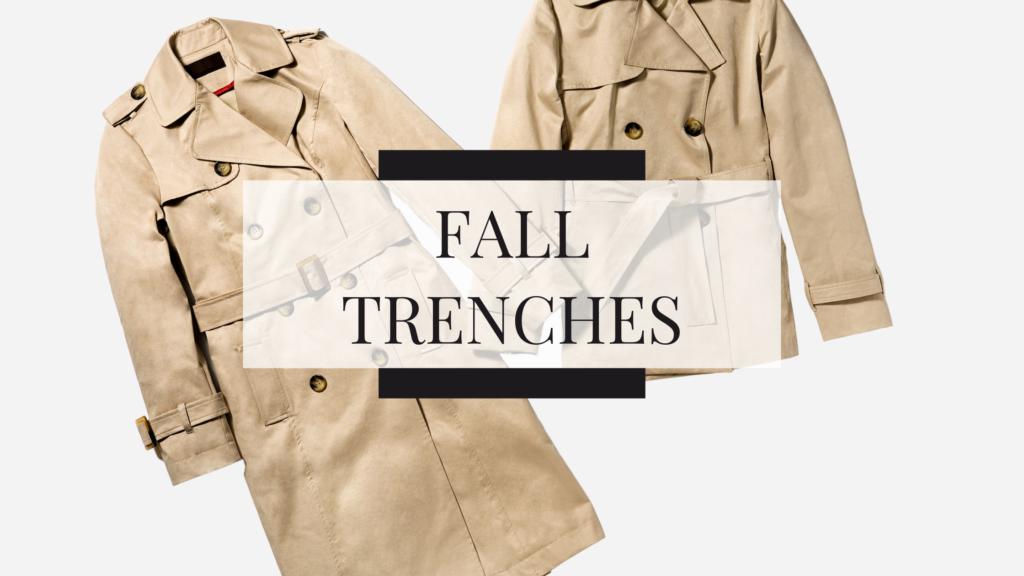 fall trench coats